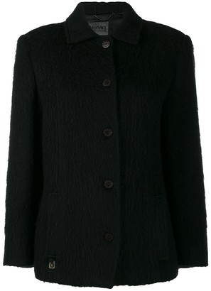 Versace Pre-Owned '2000s Cutaway Collar Coat