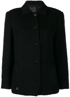 Versace Pre Owned '2000s Cutaway Collar Coat