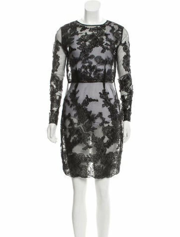 Dolce & Gabbana Semi-Sheer Lace Dress Black