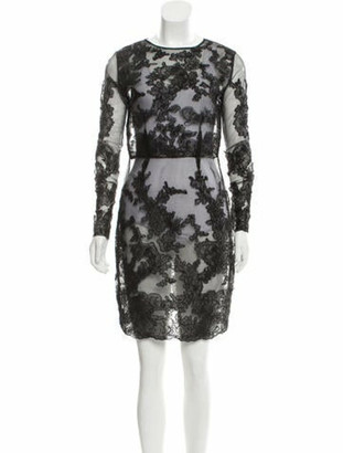 Dolce & Gabbana Semi-Sheer Lace Dress Black
