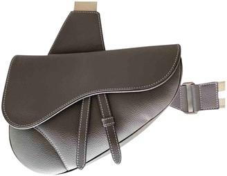 Christian Dior Saddle Grey Leather Bags
