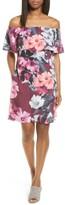 CeCe Women's Floral Off The Shoulder Shift Dress