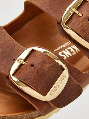 Birkenstock Arizona Big Buckle Narrow Fit Flat Sandals - Cognac