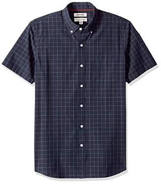 Goodthreads Men's Standard-Fit Short-Sleeve Plaid Poplin Shirt