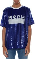 MSGM Sequins Logo T-shirt