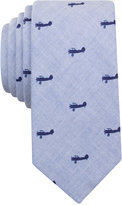 Bar III Men's Vintage Flight Plane-Print Skinny Tie, Only at Macy's