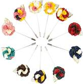 Jelinda Men's Gold Leaf Lapel Pin Flower Handmade Boutonniere Pin