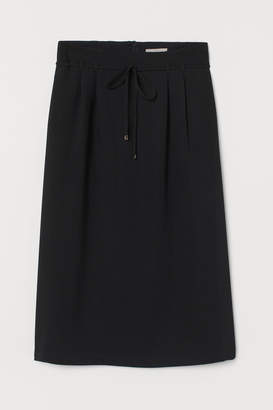 H&M Skirt with Tie Belt - Black