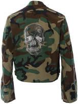 HIPCHIK Skull Cropped Camo Jacket