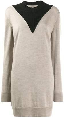 MM6 MAISON MARGIELA colour-block knitted dress