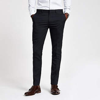 River Island Navy super skinny fit smart trousers
