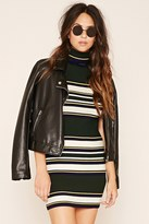 Forever 21 Striped Knit Turtleneck Dress