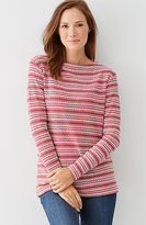 J. Jill Textured Boat-Neck Top