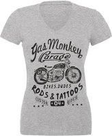 Old Glory Gas Monkey Garage - Biker Babe Juniors V-Neck T-Shirt