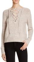 Bardot Lace-Up Sweater