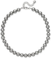 Charter Club Silver-Tone Imitation Gray Pearl Necklace, Only at Macy's