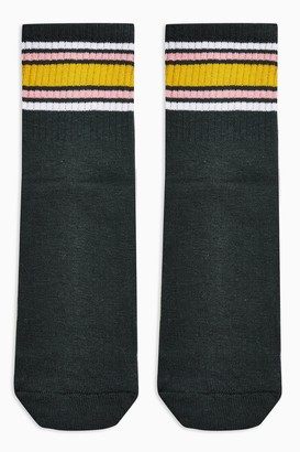 Topshop Womens Green Back Sport Tube Socks - Green