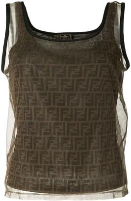 Fendi Pre Owned FF pattern tank top