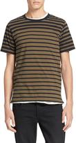 Rag & Bone Colorblock Stripe Tee – Olive