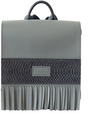 Kartu Studio Natural Leather Backpack ''Verbena'' Grey
