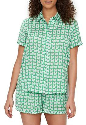 Kate Spade Butterfly Charmeuse Pajama Set