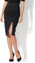 New York & Co. 7th Avenue - Front Slit Pencil Skirt - Modern - Black - Petite