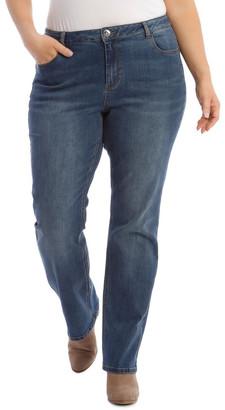 Regatta Essential Straight Jean In Mid Blue Mid