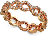 Giani Bernini Cubic Zirconia Pavandeacute; Infinity Ring in 18k Rose Gold-Plated Sterling Silver, Created for Macy's