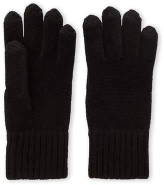 Qi Black Cashmere Gloves