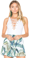 Show Me Your Mumu Wyatt Lace Up Bodysuit