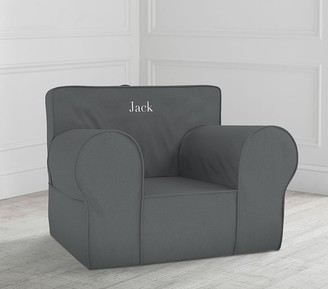 Pottery Barn Kids Oversized Charcoal Twill Anywhere Chair