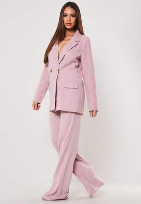 Missguided Tall Lilac Co Ord Straight Leg Pants