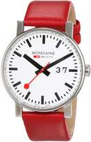 Mondaine Women's A627.30303.11SBC Analog Display Swiss Quartz Red Watch