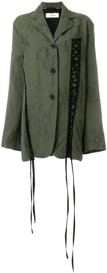 Damir Doma lace-up detail printed jacket