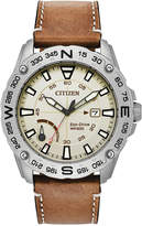 Citizen Men's Eco-Drive Brown Leather Strap Watch 44mm, a Macy's Exclusive Style