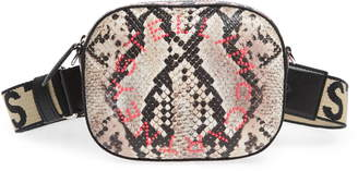 Stella McCartney Snake Print Faux Leather Belt Bag