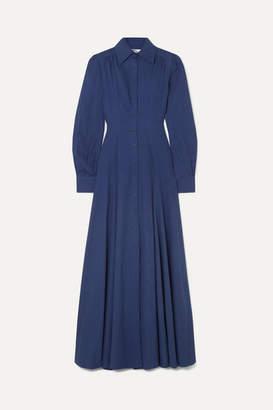 Evi Grintela Jasmine Cotton-chambray Maxi Dress - Blue