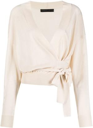 FEDERICA TOSI Long-Sleeved Wraparound Blouse