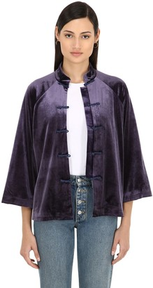 Yali Silk Velvet Jacket