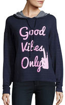 Honey Punch Good Vibes Only Long Sleeve Hoodie
