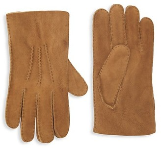 Portolano Shearling-Lined Leather Gloves