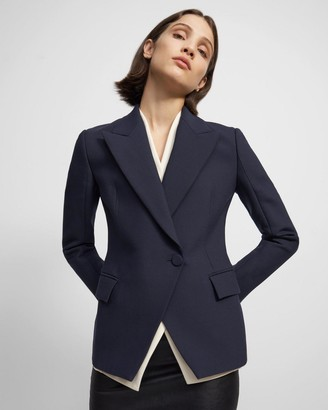 Theory Layered Blazer in Crepe
