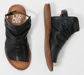 Miz Mooz Leather Ankle Strap Wide Sandals - Fallon