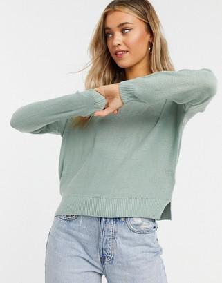 Brave Soul Grunge boxy crew neck sweater