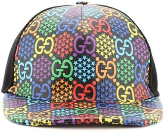 Gucci Baseball Cap Psychedelic Print GG Coated Canvas Large