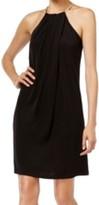 Calvin Klein Black Women's Size XS Embellished Halter Sheath Dress