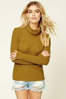 Forever 21 FOREVER 21+ Cowl Neck Sweater Top