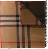 Burberry house check scarf - women - Silk/Wool - One Size
