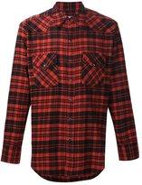 Saint Laurent casual plaid shirt