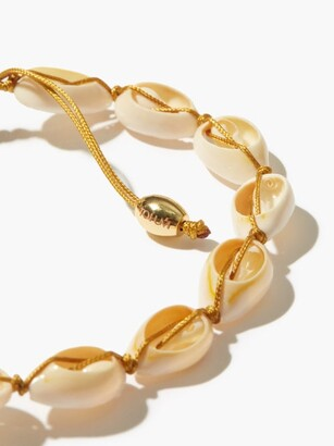 Tohum Puka-shell & 24kt Gold-plated Ankle Bracelet - White